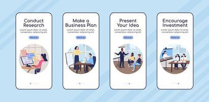 modelo de vetor plano de tela de aplicativo móvel integrado