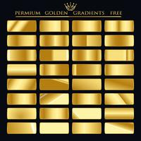 Gradientes Dourados Premium GRÁTIS vetor