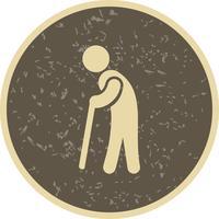 Ícone do vetor de aposentadoria