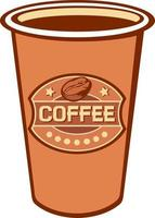 copo de papel de café vetor