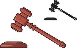 martelo do juiz vetor