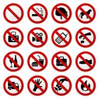 Proibido sem sinal de parada. vetor