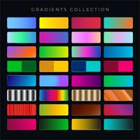 coleção gradiente vetor