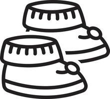 ícone de linha para botinhas vetor