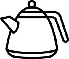 ícone de linha para chaleira vetor