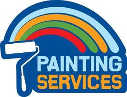 etiqueta de serviços de pintura vetor
