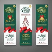 fundo vertical de banner de feliz natal, ilustração vetorial vetor