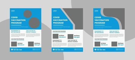 modelo de folheto de programa de vacinação vetor