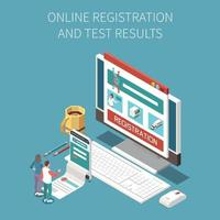 composição do resultado do teste online vetor