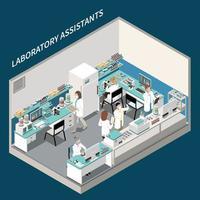 composição de laboratório de exames médicos vetor