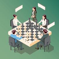 conceito de xadrez de negócios vetor
