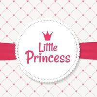 fundo princesa com ilustração vetorial de coroa vetor