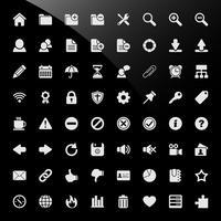 Ícones da Web do sistema de gerenciamento de conteúdo CMS.