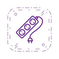 Ícone de vetor de cabo de extensão