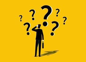 empresário com sinal de interrogação vetor