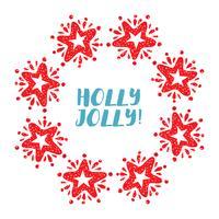 Grinalda de estrela de Natal isolada no fundo branco vetor