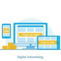 Banner de publicidade digital seo vetor