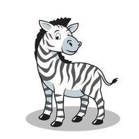 ilustração de zebra cartoon vetor