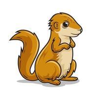 ilustrações de esquilo terrestre de desenho animado xerus vetor