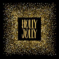 Bandeira de Natal Holly agradavelmente.