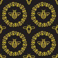 Padrão sem emenda com abelha