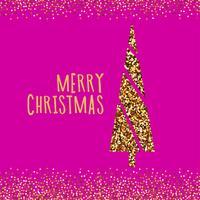 Banner de Natal com pinheiro de Natal. vetor