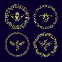 insetos insetos abelha para identidade corporativa