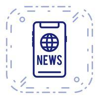 Ícone de notícias do vetor