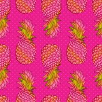 Padrão sem emenda na moda criativa de abacaxi