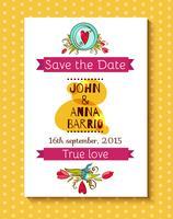 Convite de casamento salvar os cartões de data