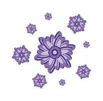 ilustração de design de flor de lavanda vetor