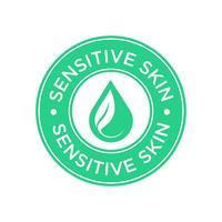 Ícone de pele sensível vetor
