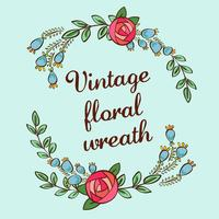coroa de flores vintage