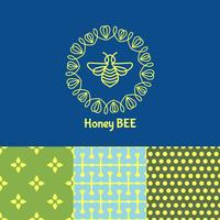 inseto. Badge Bee para identidade corporativa