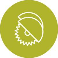 Circular viu ícone Vector
