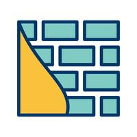 Ícone de vetor de parede de tijolo