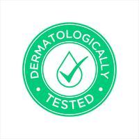 Ícone Dermatologicamente testado vetor