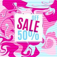 Cartaz de venda brilhante com design de garota shabbi. vetor