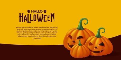 festa de halloween jack o lantern vetor