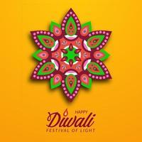 festival de luz diwali da índia com lamparina a óleo vetor