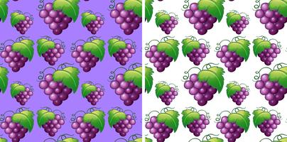 Fundo sem costura com uvas frescas vetor