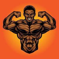 ilustrações do mascote do poder do ginásio de fitness vetor