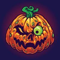 monster jack o lantern assustadoras abóboras halloween vetor