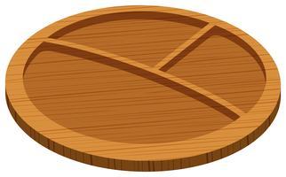 Bandeja de madeira com três furos
