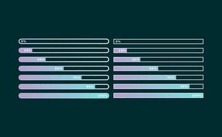 vetor das linhas de upload e carregamento