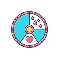 ícone de cor do ciclo menstrual vetor