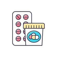 ícone da cor do medicamento vetor