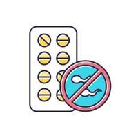 ícone de cor de controle de natalidade vetor