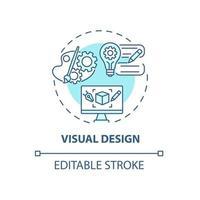 ícone do conceito de design visual vetor