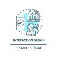ícone do conceito de design de interação vetor